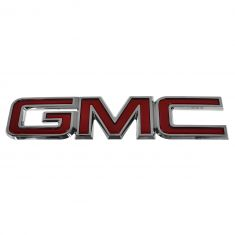07-14 GMC Arcadia, Yukon, Yukon Hybrid Grille Mounted Red ~GMC~ Snap on Nameplate (GM)