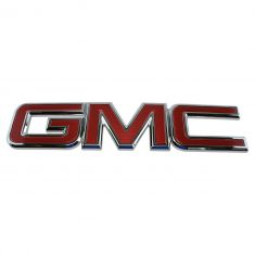 14-16 GMC Sierra 1500; 15-16 2500, 3500 Red ~GMC~ Grille Emblem (GM)