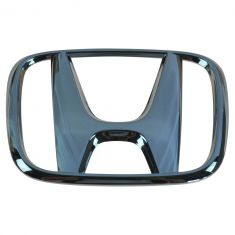 03-05 Accord 2DR; 07-08 Fit Grille Mounted Chrome ~H~ Logoed Clip on Style Nameplate Emblem (Honda)