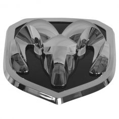 13-15 Ram 1500, 2500, 3500 Grille Mounted Chrome & Black ~Rams Head~ Logoed Adhesive Emblem (Mopar)