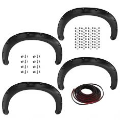 11-14 GMC Sierra 2500, 3500 6.5ft, 8ft bed (exc. DRW) PTM Pocket Bolt Style Fender Flare Kit