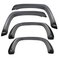 07-13 Chevy Silverado 6.5ft, 8ft bed (exc. DRW) Textured Pocket Bolt Style Fender Flare Kit