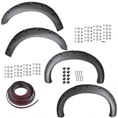 99-07 Ford F250, F350 (exc. DRW) Textured Pocket Bolt Style Fender Flare Kit