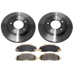1997-04 Ford F150 Pickup Brake Pad & Rotor Kit Front for 4x4 With 5 Lug Wheels (Except Lightning Models)