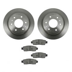2002-05 Trailblazer Envoy Ascender Rainier Brake Pad & Rotor Kit Rear