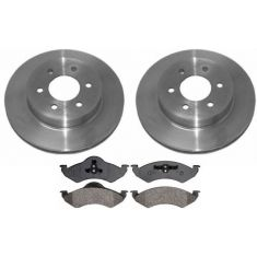2000-02 Dodge Dakota Durango Brake Pad & Rotor Kit Front