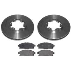 1996-97 Nissan Pathfinder Brake Pad & Rotor Kit Front