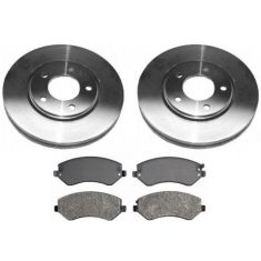 2001-05 Town & Country Caravan Voyager Brake Pad & Rotor Kit Front (Except Vans With Rear Disc Brakes)