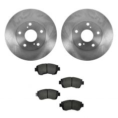 1992-01 Toyota Camry Brake Pad & Rotor Kit Front for 15 Inch Wheels