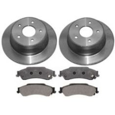 1997-05 Blazer S10 Bravada Envoy Jimmy Sonoma Brake Pad & Rotor Kit Rear for 4x4 Models