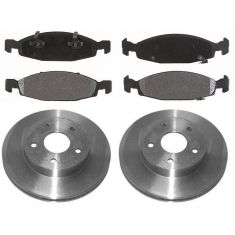 1999-02 Jeep Grand Cherokee Brake Pad & Rotor Kit Front for Teves Calipers