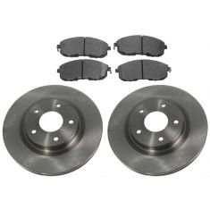 FRONT Semi-Metallic Disc Brake Pad & Rotor Kit (AX900410 & AXMD815)
