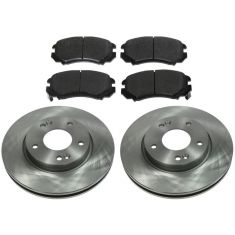 FRONT Semi-Metallic Disc Brake Pad & Rotor Kit (AX900442 & AXMD924)