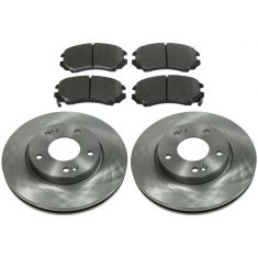FRONT Ceramic Disc Brake Pad & Rotor Kit (AX900442 & AXCD924)