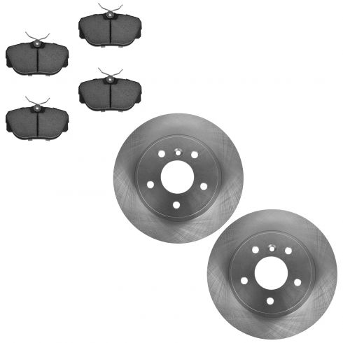 Nakamoto Front Disc Brake Rotors Pair Set of 2 for Land Rover Discovery NEW