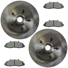 Front Disc Brake Rotor & Pad Set AX54069, AXMD679