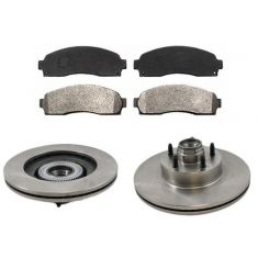 Front Disc Brake Rotor & Pad Set  AX54096, AXMD833