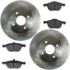 Front Disc Brake Rotor & Pad Set  AX54132, AXCD1044