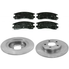 Rear Disc Brake Rotor & Pad Set  AX55051, AXMD714
