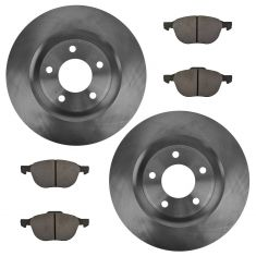 Front Semi-metallic Disc Brake Pads & Rotor Set  AXMD1044,  AX31363