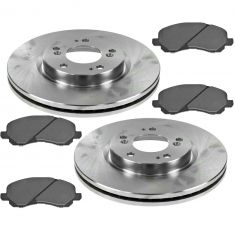 7-11 Dodge Caliber; 08-10 Mitsubishi Lancer Front Brake Rotor & Semi-metallic Pad Set