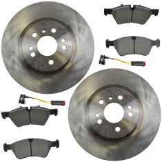 06-10 MB ML, R Series Front Brake Rotor & Metallic Pads with Sensors Set