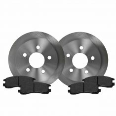 Rear Ceramic Disc Brake Pads & Rotor Set AXCD698, AX55039