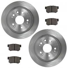 10-12 Honda Rear Posi Metallic Disc Brake Pads & Rotor Set