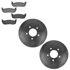 03-05 Town Car; 97-03 Ford Truck Ceramic Rear Disc Brake Pads & Rotor Set CD711, 54090