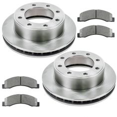 00-05 Ford Excursion, 99-04 F250 F350 13 Inch Metallic Front Brake Pad & Rotor Set