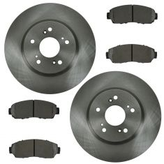 07-12 RDX, CR-V; 10-12 Crosstour Front Metallic Pads & Rotors Set