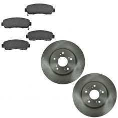 07-12 RDX, CR-V; 10-12 Crosstour Front Ceramic Pads & Rotors Set