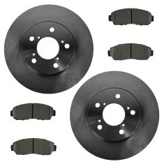 05-10 Honda Odyssey Front Disc Brake Rotors & Metallic Pads Set