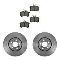 98-99 Passat; 00-05 Passat FWD Rear Metallic Pads & Rotors Set