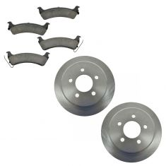 95-98 Jeep Grand Cherokee Rear Ceramic Pads & Rotors Set