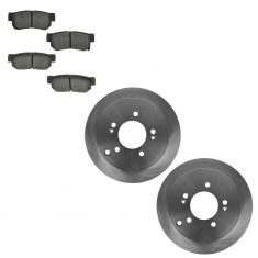 01-06 Santa Fe; 05-10 Sportage 4WD; 05-09 Tucson Rear Metallic Pads & Rotors Set