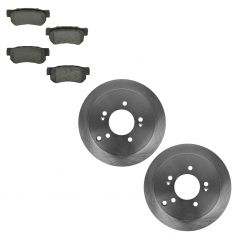 01-06 Santa Fe; 05-10 Sportage 4WD; 05-09 Tucson Rear Ceramic Pads & Rotors Set
