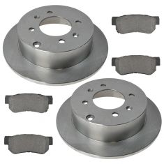 01-05 Kia Optima, Magentis; 06 Kia Optima, Magentis (4Lug) Rear Ceramic  Pads & Rotors Set