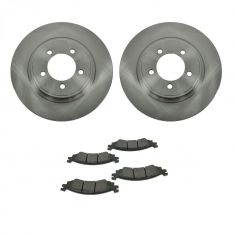 06-10 Explorer, Mountaineer; 07-10 Sport Trac Front Metallic Pads & Rotors Set