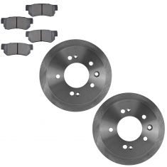 07-08 Elantra; 09-10 Elantra GLS SE Sedan Rear Metallic Pads & Rotors Set