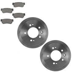 07-08 Elantra; 09-10 Elantra GLS SE Sedan Rear Ceramic Pads & Rotors Set