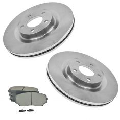 07-09 Edge, MKX AWD; 10-12 Edge, MKX Front Metallic Pads & Brake Rotors Set