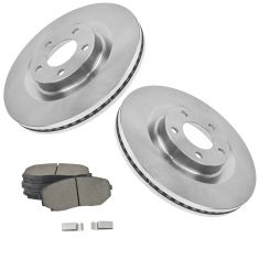 07-09 Edge, MKX AWD; 10-12 Edge, MKX Front Ceramic Pads & Brake Rotors Set