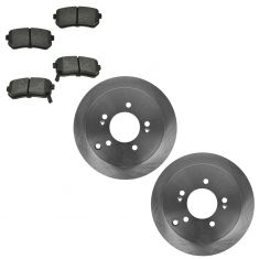 10-11 Tucson; 11-12 Sportage 4WD Rear Ceramic Pads & Rotors Set