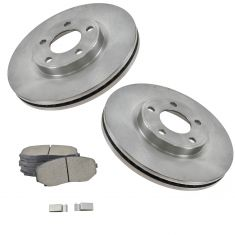 07-09 Ford Edge, Lincoln MKX FWD Front Ceramic Brake Pads & Rotors Set
