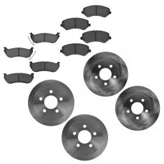 03-07 Jeep Liberty Front & Rear Ceramic Pads & Rotor Set