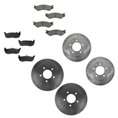 97-02 Ford Expedition; 98-02 Lincoln Navigator 4WD Fr & Rr Metallic Pads & Rotors Set
