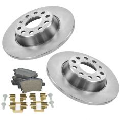 06-12 Audi VW Multifit Rear Metallic Brake Pads & 286mm Rotors Set