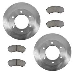 02 Passport; 02-04 Axiom; 02-04 Rodeo; 02-03 Rodeo Sport Front Metallic Brake Pads & Rotors Set