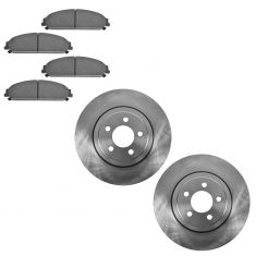 05-12 Chrysler 300; 09-12 Dodge Challenger, 06-12 Charger, 05-08 Magnum Fr Ceramic Pads & Rotors